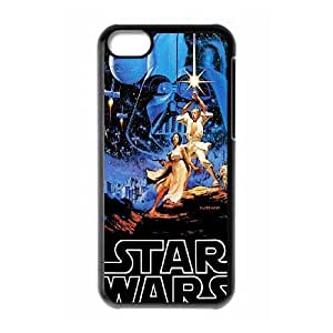 Special Design Cases iPhone 5C Cell Phone Case Black Star Wars Yxfrd Durable Rubber Cover
