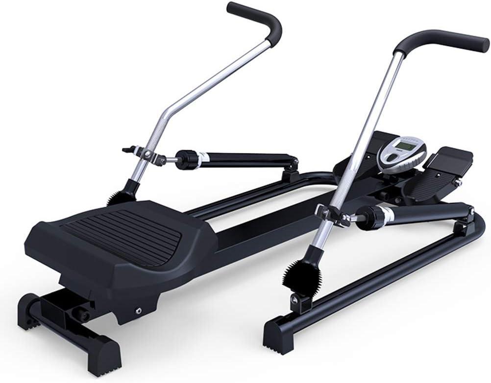 Máquinas de remo Concept 2 Model d silenciosa for el hogar Entrenamiento de Cintura Equipamiento Deportivo (Color : Black, Size : 114 * 58 * 68cm)