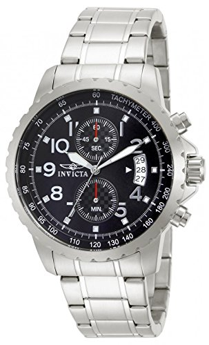 - Invicta Men's 13783 Specialty Chronograph Black Dial Stainless Steel Watch