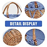 G GOOD GAIN Oval Picnic Basket with Folding