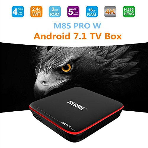 MECOOL M8S PRO W Android 7.1 Smart TV Box S905W 2GB/16GB TV Box Quad Core WIFI Lan HD OTA Update Multilanguages