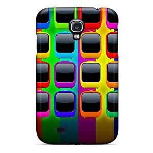 Fashion Tpu Case For Galaxy S4- Rainbow Shelves Defender Case Cover