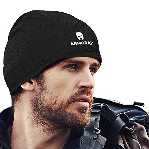 ARMORAY Skull Cap - Running Hat Beanie for Men or Women - Fits Under Helmets Perfect for Cold Weather Waterproof Ski Cap - 5