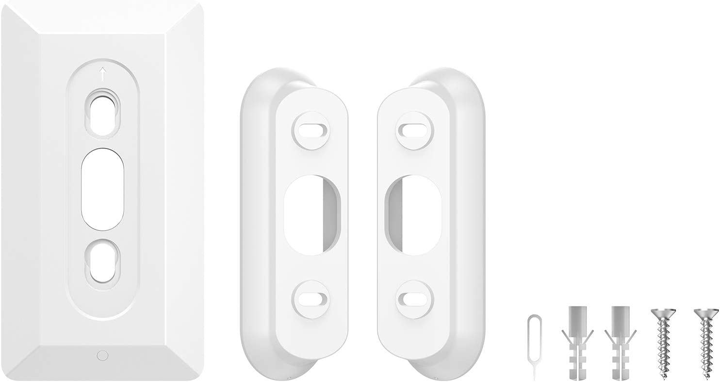 35-Degree Wedge with Wall Plate for Google Nest Hello Video Doorbell White Aobelieve Corner Angle Mount