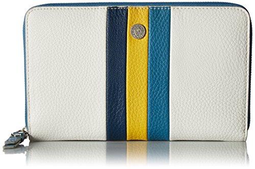 Anne Klein Stripe Zip Around Wallet, Leather/Sb/s/mm Stripe Zip Around Wallet