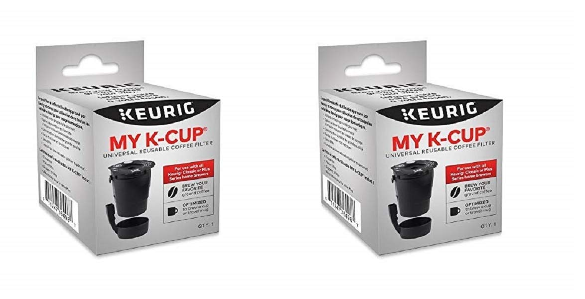 Keurig My K-Cup Universal Reusable Ground Coffee Filter New Model (2 Pack) Compatible with All Keurig K-Cup Pod Coffee Makers (2.0 and 1.0)