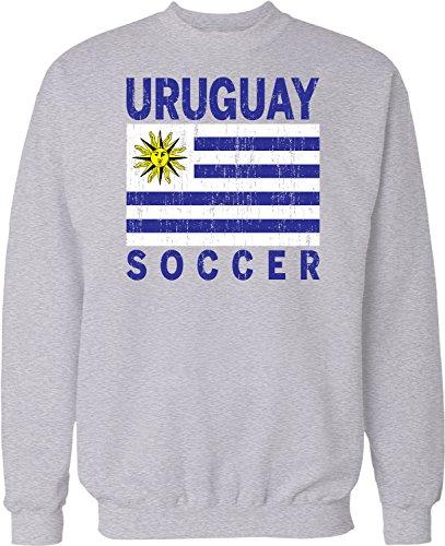 Oriental Soccer Ball (NOFO Clothing Co Uruguay Soccer, Uruguayan Futbol, Charruas Crew Neck Sweatshirt, L LtGray)