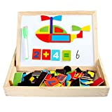 Baby Toys Multifunctional Writing Board Magnetic Traffic Puzzle Wooden Toy