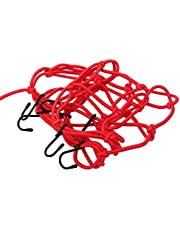 Wear-Resistant String Bag Baggage Mesh Sturdy for Vacations for Road Trips for MTB for Quad Bike(red)