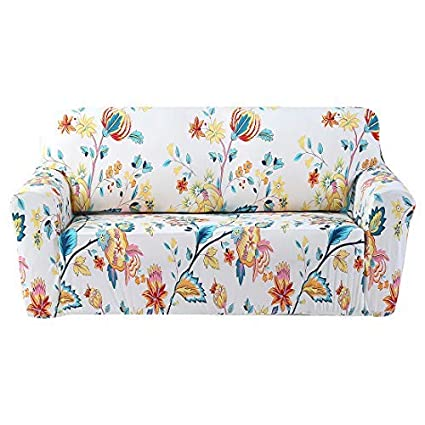 Forcheer Stretch Sofa Slipcovers Printed Pattern Couch Cover For Three Cushion Furniture Protector From Pets Pams Printed 4 Sofa