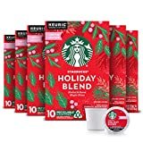 Starbucks Holiday Blend Medium Roast Coffee Single-Cup Coffee for Keurig Brewers, 6 Boxes of 10 (60 Total K-Cup Pods)   Herbal & Sweet Maple Notes