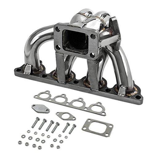 For Honda D-Series Stainless Steel T3 Turbo Manifold with 35mm/38mm Wastegate Port - D15 - Del Sol Turbo