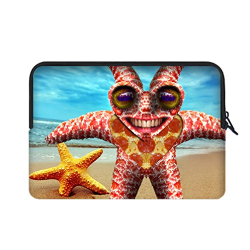 [JIUDUIDODO Gift Realistic Lovely Starfish Water Resistant Neoprene Fashion Custom Sleeve for Macbook Air/Pro 12
