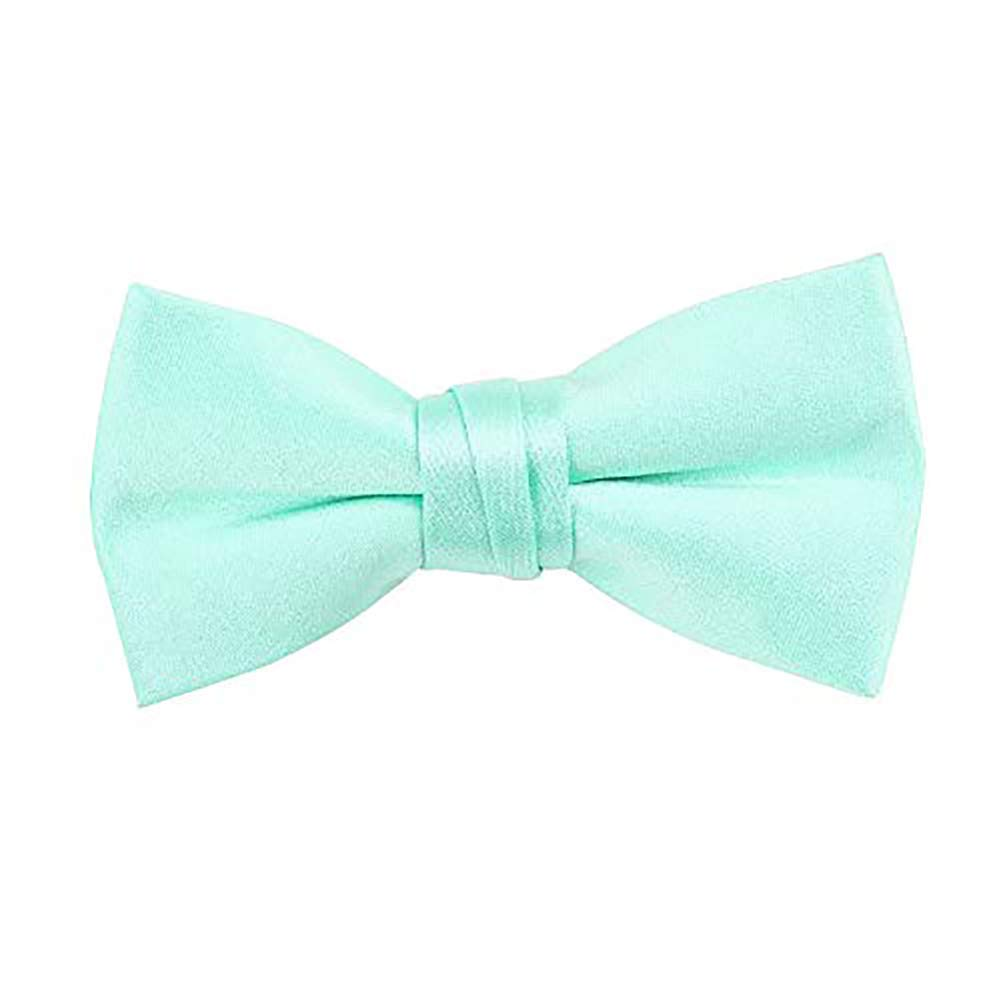 Boys Toddler Pre Tied Adjustable Bow Tie Solid Multicolored Bowtie Aqua Baby