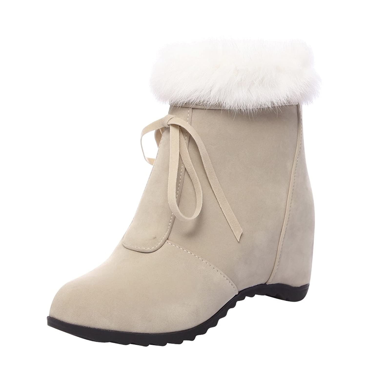 Charm Foot Women's Fashion Winter Wedges Short Snow Boots