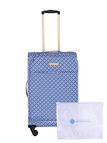 Jenni Chan Colima 2-Piece Set 28'' Upright Spinner + 311 Bag, Blue by Jenni Chan