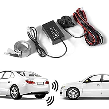 XCSOURCE® Reverso del coche Radar de reserva con Sensores de aparcamiento y Zumbador de seguridad Alarma Aparcamiento Para 12V Coches Vehículos ...
