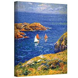 Art Wall Calm Seas Gallery Wrapped Canvas Art, 24 By 32-inch