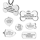 Stainless Steel Pet ID Tags, Engraved Personalized