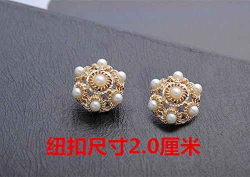 Mink Pearl Fur Button (Mink cashmere diamond crown buttons buttons buttons decorative buckle fur coat pearl buttons small buttons metal buttons for Sewing Crafts Handmade Clothes DIY)