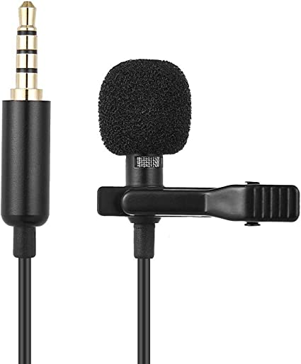 1.45M Mini Portable Microphone Condenser Clip-On Lapel Lavalier ...