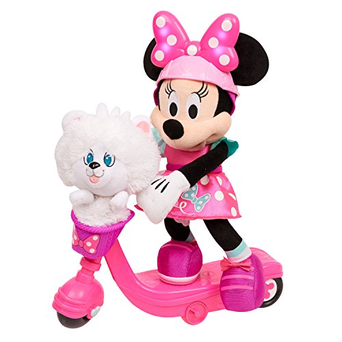 "Minnie Helper Scooter 13"" Feature Plush, Pink/Purple/White"