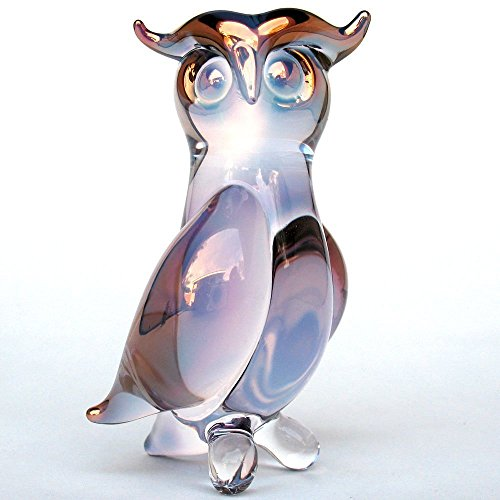 Owl Figurine of Hand Blown Glass