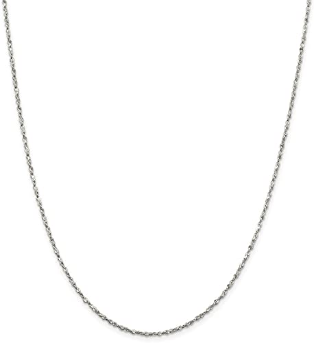 Sterling Silver Girls .8mm Box Chain Number 18 Eighteen Pendant Necklace