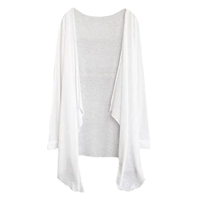 7Malls Summer Women Long Thin Cardigan Modal Sun Protection Clothing Tops