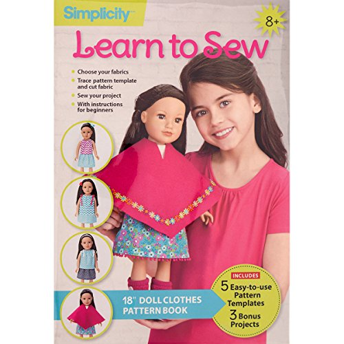 Supplies Doll Sewing Clothes - Wrights 50610000 Simplicity Learn to Sew-18, 18