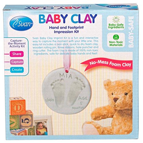 Baby Foam Clay Hand Footprint Kit Great Wall Decor