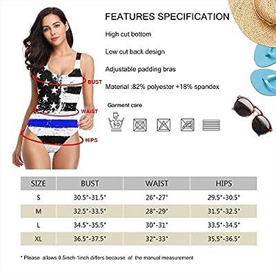 USA Flags Black and White Traje de baño de una Pieza Quick Dr para Mujer Traje de baño de Elasticidad Traje de baño Copa Suave: Ropa y accesorios