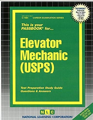 elevator mechanic usps passbooks career examination passbooks rh amazon com Locomotive Engineer Mechanical Aptitude Tests General Mechanical Aptitude Test