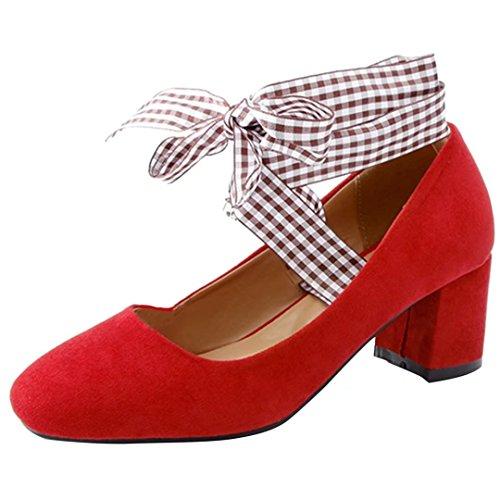 Tira Aiyoumei Tobillo De Mujer Rojo Terciopelo Yg8gw