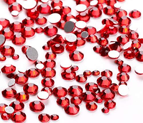 Jollin 3456pcs Flatback Rhinestones Glass Charms Diamantes Gems Stones for Nail Art 6 Size ss4~ss12 Siam