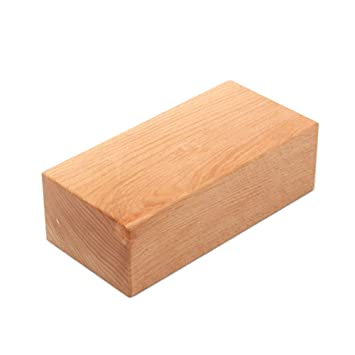 Amazon.com : MATCHANT Solid Wood Yoga Brick Yoga Block Solid ...