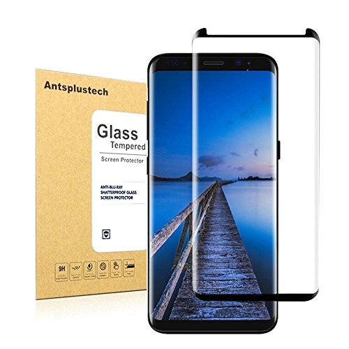 Galaxy S8 Tempered Glass Screen Protector,Antsplust 9H Hardness HD Anti-Scratch Screen Protector[Ultra-Clear] [Bubble-free Installation] [Anti-Fingerprint] for Samsung Galaxy S8 Black