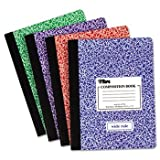 12 Pack Composition Book w/Hard Cover, Wide Rule, 9-3/4 x 7-1/2, White, 100 Sheets/Pad by TOPS (Catalog Category: Paper, Envelopes & Mailers / Notebooks) by TOPS