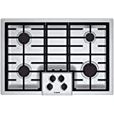 Bosch NGM5055UC 500 Series 30' Gas Cooktop with Four Sealed Burners Automatic Re-ignition LP Conversion Kit 16 000 BTU Burn Capacity in Stainless