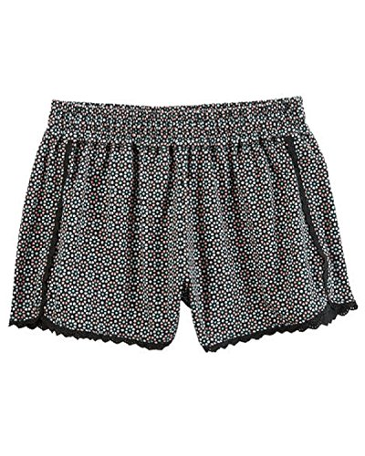 Carters Little Girls Cotton Jersey Geo Printed Lace Trim Flowy Shorts  5T