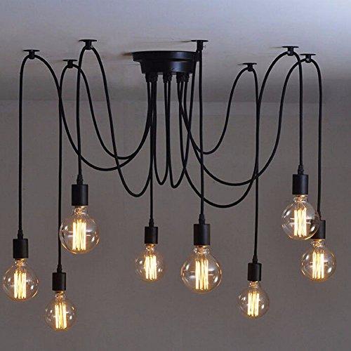 Moderno Nordic Light lámpara Edison Retro Vintage candelabros antiguos loft DIY Ajustable Arte E27 Lámpara de techo...