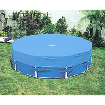 Intex 15 foot round metal frame pool cover for Garden pool covers