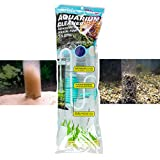 Genuine TERAPUMP Aquarium Cleaner Aquarium Fish Tank Gravel Sand Cleaner with Long Nozzle N Water Flow Controller - BPA Free (model: TRFTCLN)