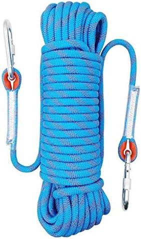 クライミングロープ、国内緊急速度低下ロープエアリアルワークロープ、直径10.5 mmの静的ロープ多機能安全ロープコード(2カラビナ) (Size : 10.5mm/50m)