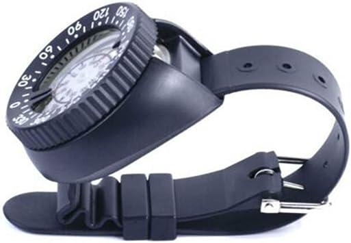 PowerLift Boussole de plong/ée Comp Boussole de Vision Nocturne /étanche avec Poignet H/émisph/ère Sud et Bracelet for la plong/ée sous-Marine