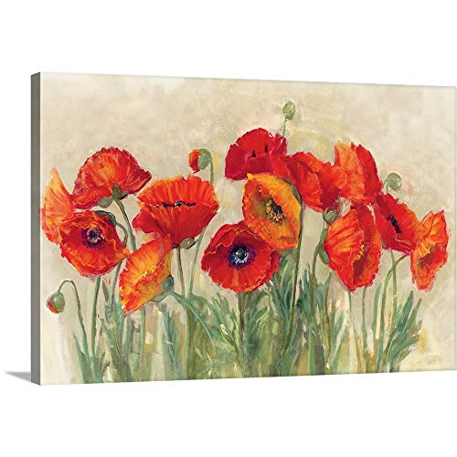 Vibrant Poppies Canvas Wall Art Print, 30