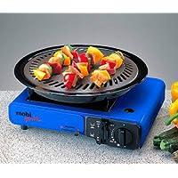 Kocher 1-flammig klein blau Cooker Camping Balkon Picknick ✔ eckig ✔ Grillen mit Gas