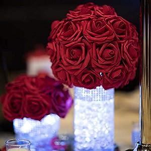 10 Heads 8Cm Pretty Charming Artificial Flowers Pe Foam Rose Flowers Bride Bouquet Home Wedding Decor Scrapbooking DIY Supplies 8