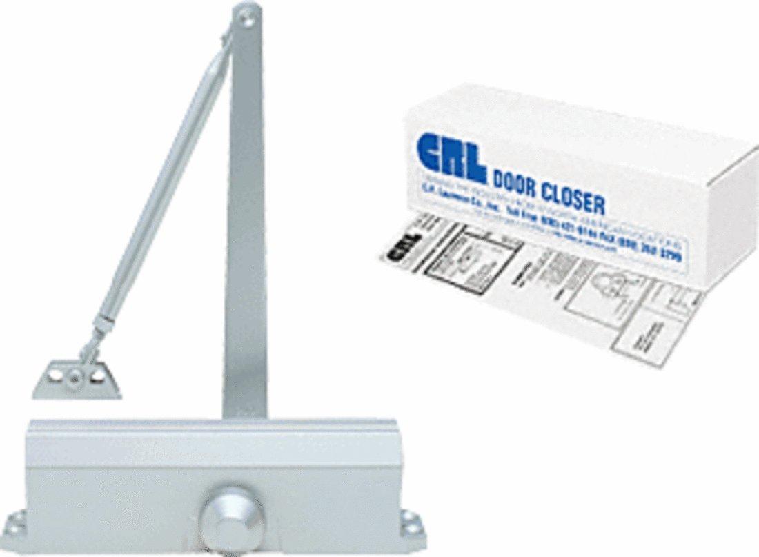 CRL PR44 Aluminum Finish Adjustable Spring Power Size 2 - 5 Delayed Action Surface Mount Door Closer