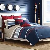 Nautica 204947 Bradford Reversible Comforter Set, Full/Queen